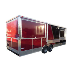 Concession Trailer Black Brandywine 8 5 X 24 Bbq Smoker Event Catering