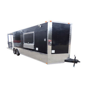 Concession Trailer 8 5 x28 Black Smoker Bbq Catering Food Event Restroom