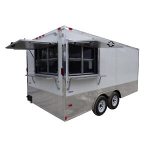 Concession Trailer 8 5 X 16 White Vending And Event Catering