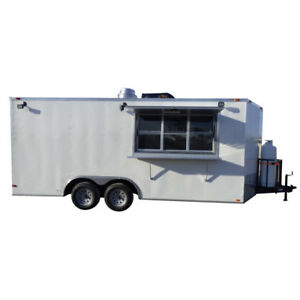 Concession Trailer 8 5 x18 White Catering Food Vending Event