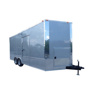 Concession Trailer 8 5 X 20 Silver Food Event Catering