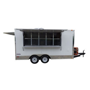 Concession Trailer 8 5 X 16 White Food Event Catering