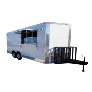 Concession Trailer 8 5 X 18 White Catering Event Trailer