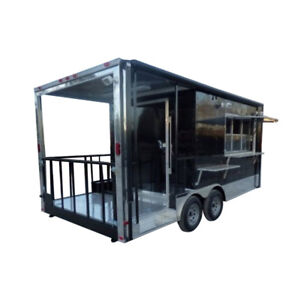 Concession Trailer 8 5 X 18 Black Catering Event Trailer