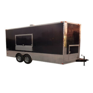 Concession Trailer 8 5 X 18 White Food Event Catering Trailer