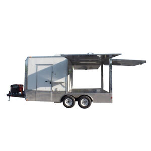Concession Trailer 8 5 X 16 White Pizza Event Catering