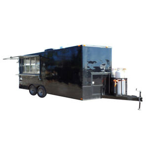 Concession Trailer 8 5 X 18 Black Food Event Catering