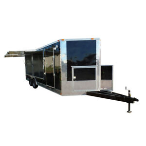 Concession Trailer 8 5 X 20 Black Food Event Catering