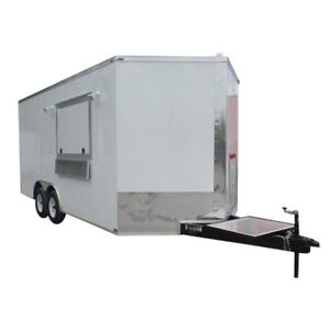 8 5 X 18 Concession Food Trailer Elite White Event Catering
