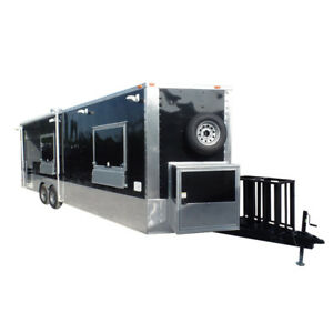 Concession Trailer 8 5 X 26 Black Food Event Catering