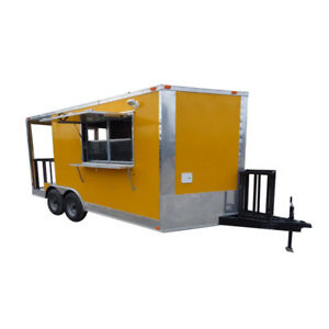 Concession Trailer 8 5 X 16 Yellow Food Event Catering