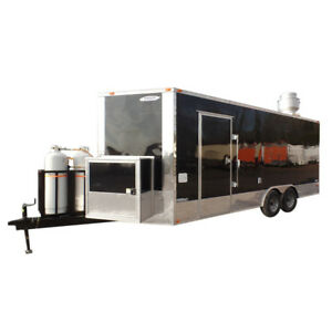 8 5 X 20 Concession Food Trailer Black Event Catering