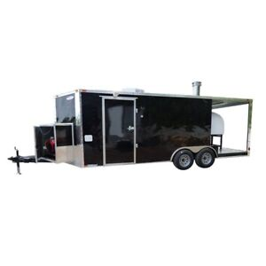 Concession Trailer 8 5 X 20 Black Pizza Food Event Catering