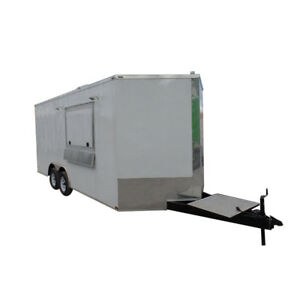 8 5 X 18 Concession Food Trailer White Event Catering