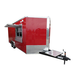 Concession Trailer 8 5 X 20 Red Food Event Catering