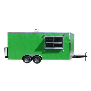 8 5 X 18 Concession Food Trailer Lime Green