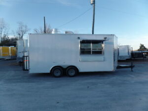 8 5 X 18 Concession Food Trailer White With Appliances