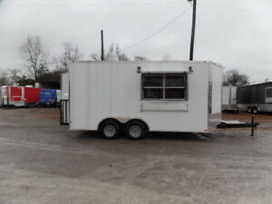 Concession 8 5x16ft White Food Catering Trailer