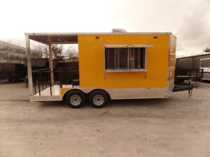 8 5 X 17 Bbq Concession Food Porch Style Trailer