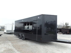 8 5 X 20 Black Out Concession Food Catering Event Trailer