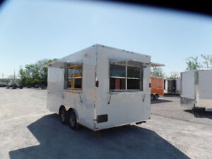 8 5 X 16 White Concession Food Ice Cream Trailer