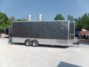 8 5 X 22 Concession Med Charcoal Grey Food Catering Event Trailer