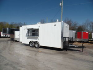 8 5x20 White Food Catering Concession Trailer