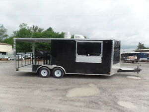 8 5x20 Porch Style Concession Food Event Trailer