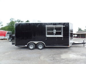 Black 8 5x18 Food Catering Concession Trailer