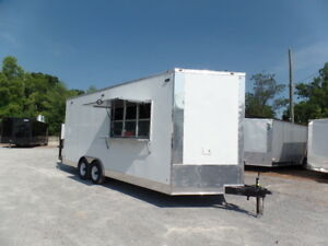 8 5 X 20 White Pizza Concession Food Trailer