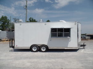 8 5 X 20 White Pizza Concession Food Trailer With Appliances