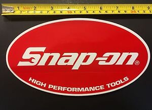 Snap On Large Oval High Performance Tools Genuine 9 X 5 Sticker Decal