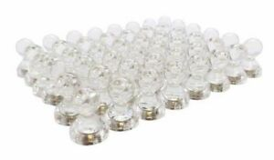 100pk 1 2 X 5 8 Clear Whiteboard Push Pin Refrigerator Magnets Us Seller