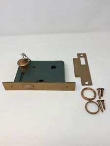 Vintage Russwin Entry Deadbolt Lock Only Hardware Cylinder Lock W Keys Nos