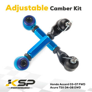 Fit 98 02 Accord Rear Adjustable Camber Arm Adjustable Suspension Kit Racing