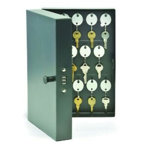 Key Storage Cabinet Metal 28 Hook Wall Mount Combination Lock Box Valet Auto New