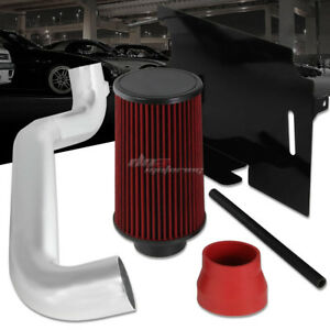 For 1998 2002 Jeep Wrangler Tj 2 5l Cold Air Intake Kit Heat Shield Red Filter