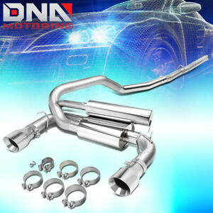 For 2016 2018 Ford Focus Rs 3 Od Stainless Cat Back Exhaust System W Muffler Tip