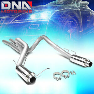 For 2011 2014 Ford Mustang 5 0l Stainless 3 od Dual Exit Catback Exhaust System