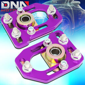 For 1979 1989 Ford Mustang Front Aluminum Adjustable Camber Caster Plates Purple