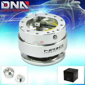 Nrg Gen 1 0 Quick Release Silver Body With Chrome Ring Hub Kit 4 Steering Wheel