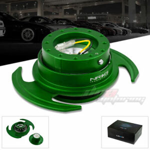 Nrg Gen 3 0 Racing Steering Wheel Quick Release Hub adapter Kit Green Body ring