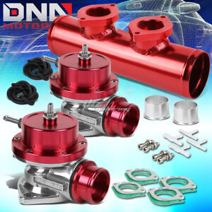 Adjustable Turbo Blow Off Valve Dual Type S 2 5 Flange Pipe Adapter Psi Red