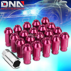 20 Pcs Pink M12x1 5 Open End Wheel Lug Nuts Key For Dts Sts Deville Cts