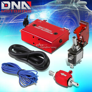 Universal Dual Stage Turbo charger Manual Bypass Psi Boost Controller switch Red