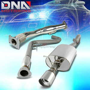 For 08 10 Cobalt Ss Turbo Catback Exhaust Piping Muffler 4 Tip Flex Down Pipe