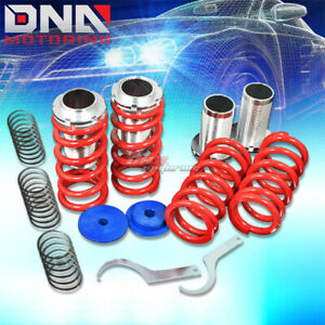 For 93 97 Nissan Altima U13 0 3 scaled Suspension Black Coilover Red Springs