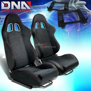 For 98 05 Miata Mx 5 Nb Bracket Type 1 Black Suede Racing Seat Reclinable X2