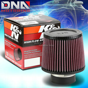 K n Kn Universal Round Tapered Cotton Gauze 3 Inlet Air Filter 5 Height Ru 3570