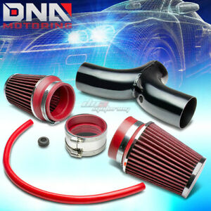 For Dodge Suv Truck 3 7 4 7 V8 Short Ram Dual Intake Pipe 3 5 Red Air Filter